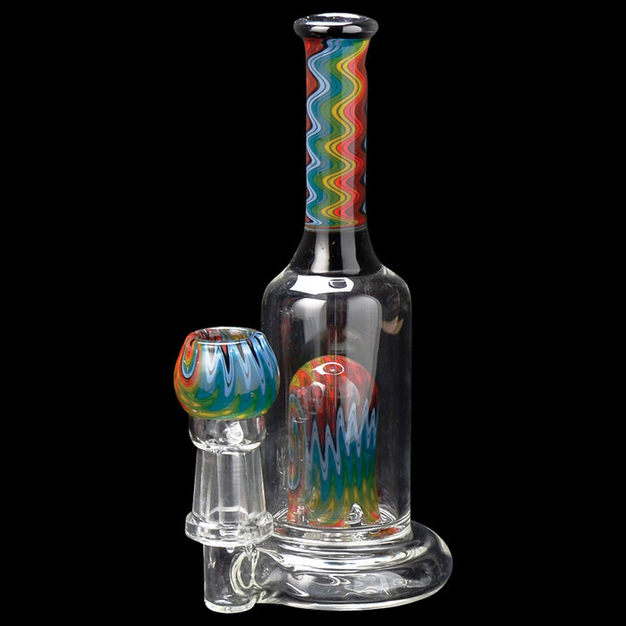 "6"" Rainbow Swirl Concentrate Bubbler Dab Rig Canada"