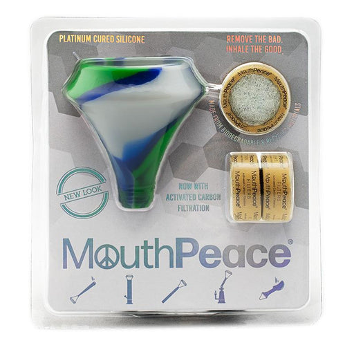 Blue White and Green Moose Labs Mouth Peace Earth