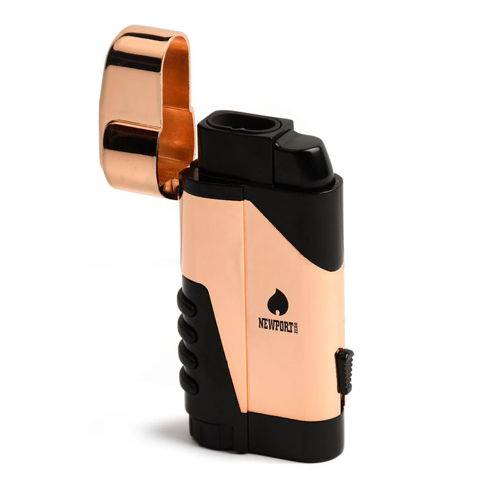 Rose Gold Dual Flame Pocket Torch Lighter Newport Canada