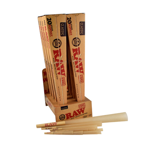 RAW Pre-Rolled Cones Sampler Pack 20 Stage RAWket