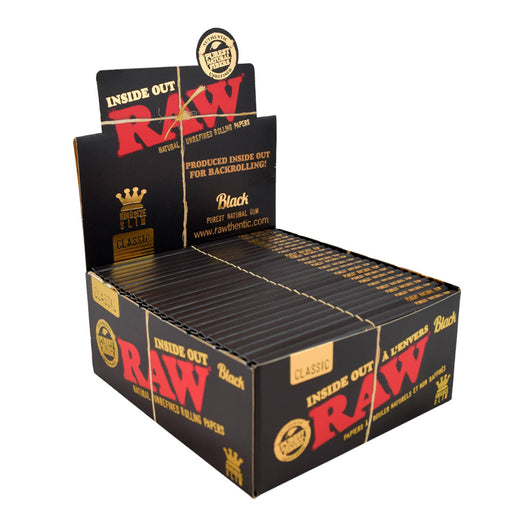 RAW Black Inside Out King Size Slim Rolling Papers Canada