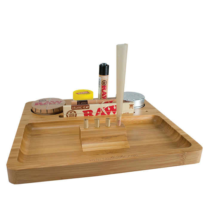 RAW one piece bamboo natural rolling tray Canada