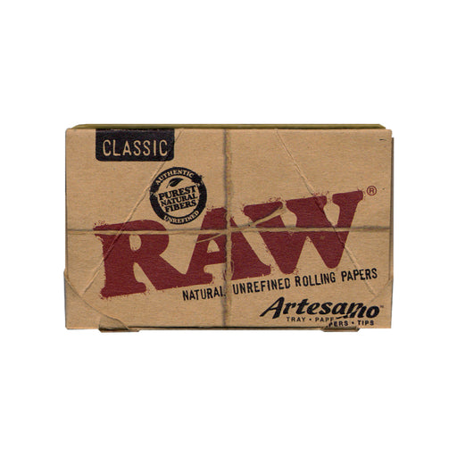 RAW Artesano 114 Rolling Papers with Tray and Tips