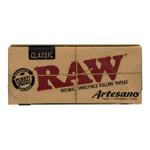 RAW Artesano King Size Slim Rolling Papers with Tray and Tips