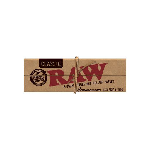 RAW Classic Connoisseur 1.25 Rolling Papers and Tips in 1 Pack