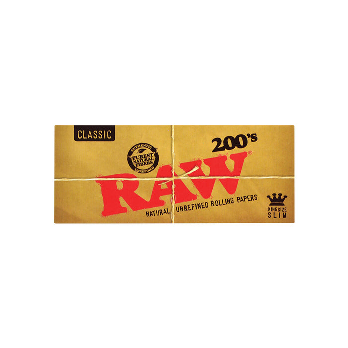 RAW King Size Slim Rolling papers 200 Sheet packs in Canada