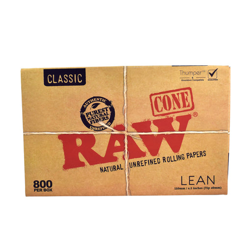 RAW Thumper Box Lean Cones 800 Box Bulk