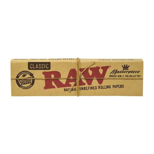 RAW Masterpiece King Size Slim Rolling Papers with Pre-Rolled Tips Canada