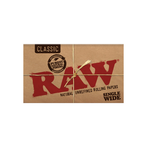 RAW Single Wide Rolling Papers Double Window 100 Sheet Pack Canada
