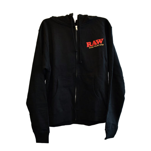 RAW Zip Up Hoodie with Plain Black String Canada