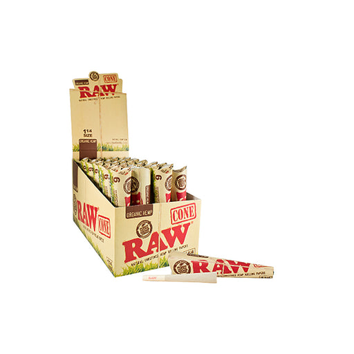RAW Organic 1 1/4 Cones 6 Pack by the Case Canada
