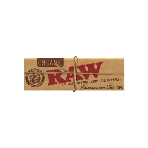 RAW Organic Connoisseur 1-1/4 Rolling Papers with Tips Canada
