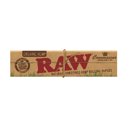 RAW Organic Connoisseur King Size Slim Rolling Papers with Tips Canada
