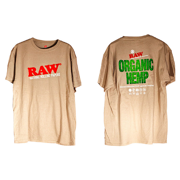 RAW Men's Organic Hemp Tan TShirt Canada
