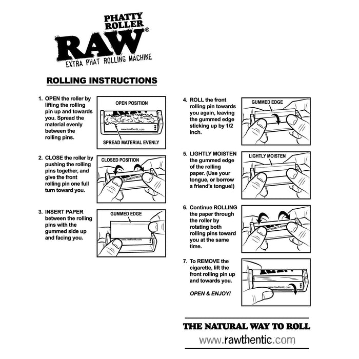 How to use RAW Phatty Roller