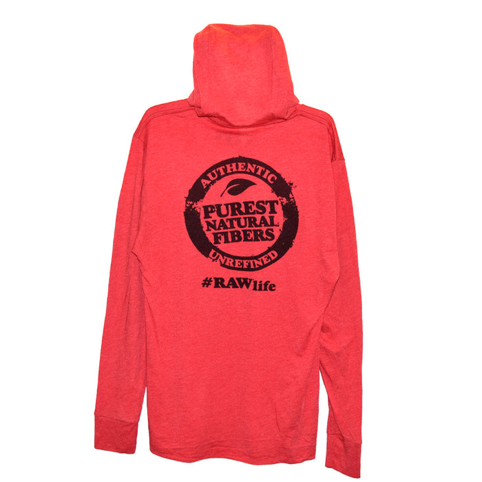 RAW Red Hoodie Long Sleeve Tshirt Canada