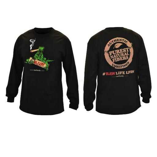 RAW Smoking Iguana Long Sleeve Shirt Mens Canada