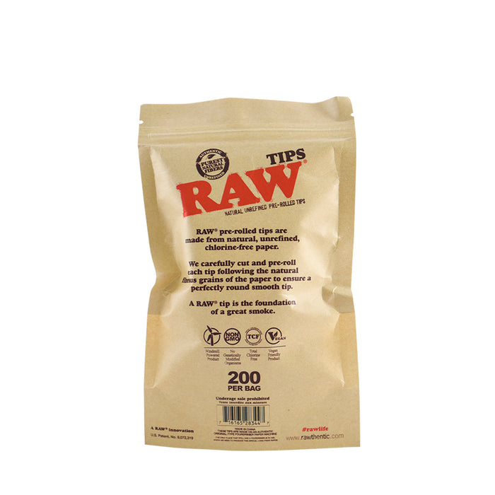 RAW Pre-Rolled Tips Canada 200 per bag