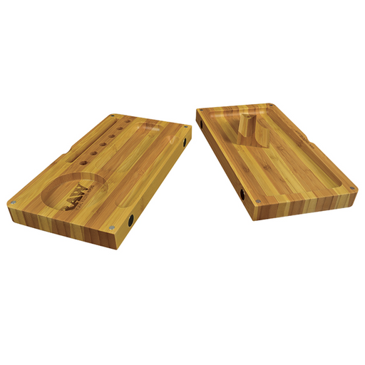 Striped Bamboo Rolling Tray Magnetic Backflip Limited Edition RAW