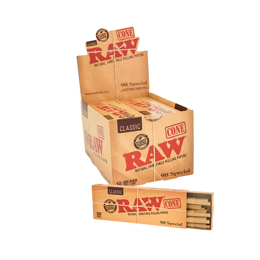 RAW 98 special pre-rolled cones