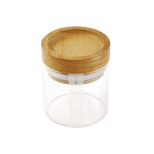 RYOT Glass Jar with Beech Tray Lid