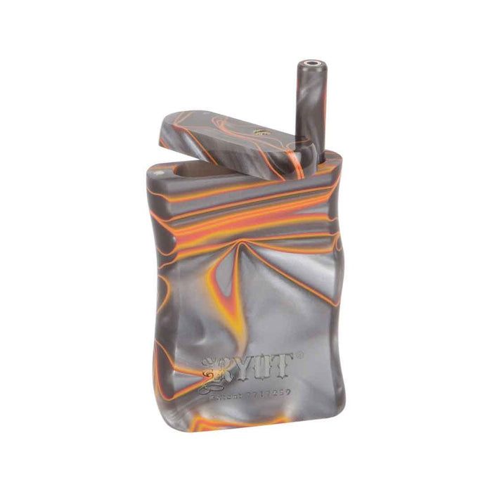 RYOT Small Acrylic Dugout bat taster box Grey Orange Marble