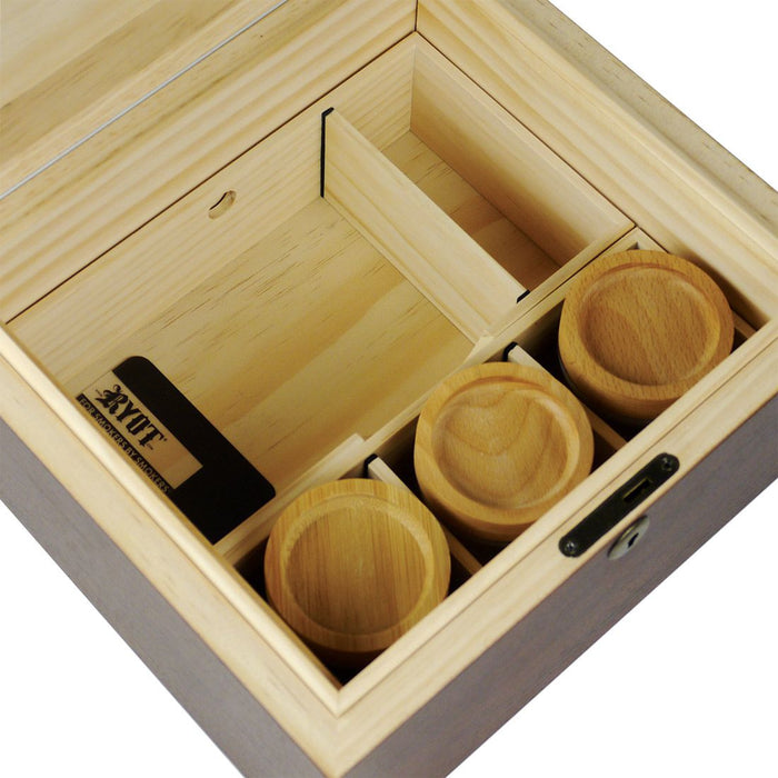RYOT Lock-R Wooden Storage Box with Jars and Rolling Tray Canada