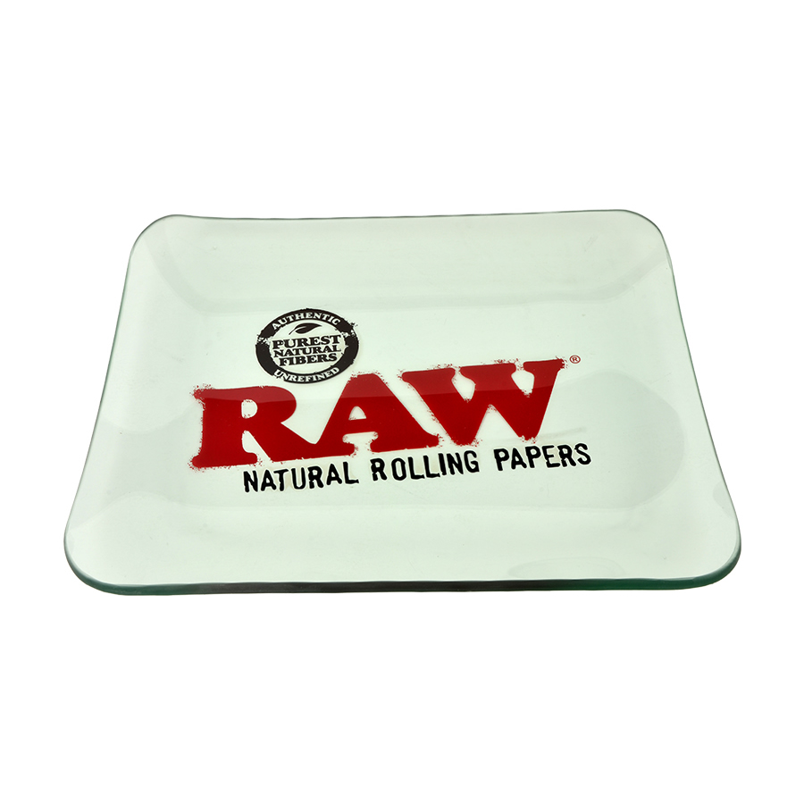 RAW Thick Glass Rolling Tray