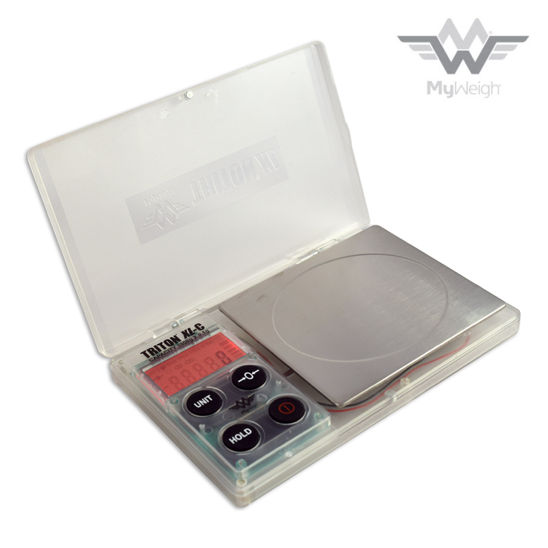 MyWeigh Triton XL-C 1000g x 0.1g Digital Scale w Clear Plastic Shell 1//4oz 1//8oz