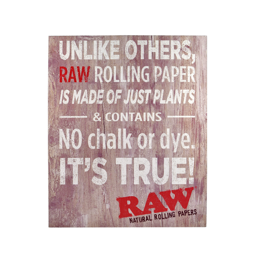 Unlike Others RAW is made of just plants and contains no chalk Canada