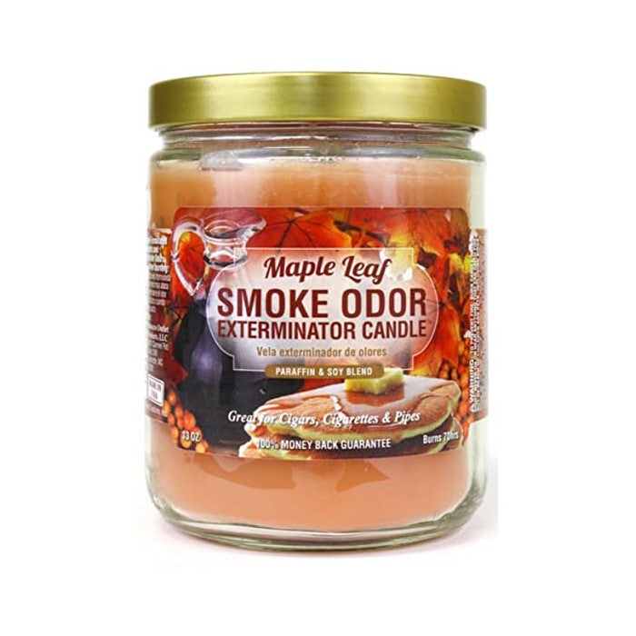 Smoke Odor Exterminator Candle - Maple Leaf