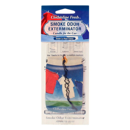 Clothesline Fresh Smoke Odor Exterminator Car Air Freshener Canada