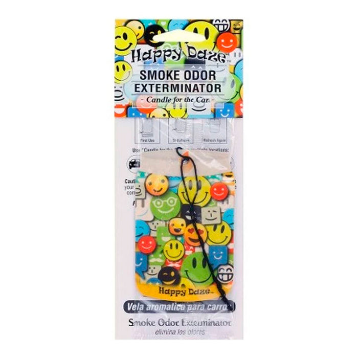 Smoke Odor Exterminator Candle for the Car Air Freshener Happy Daze