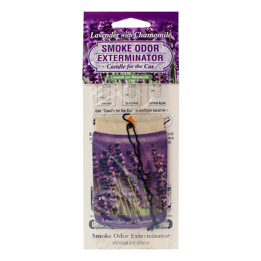 Lavender and Chamomile Smoke Odor Exterminator Candle for the Car Air Freshener