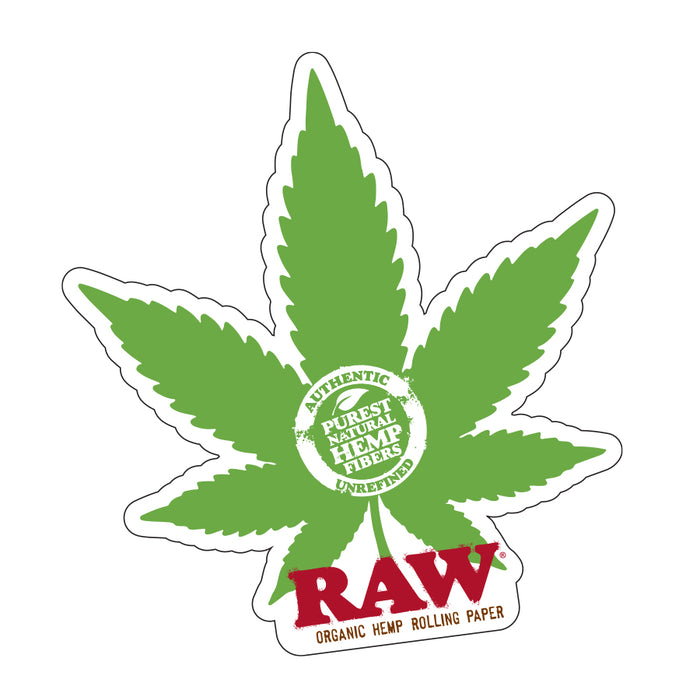 RAW Weed Leaf Stickers Canada