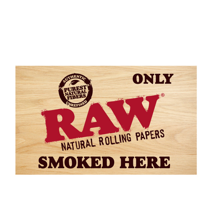 Only RAW Smoked Here Sticker Canada