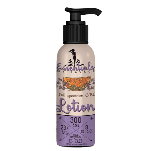 Savage CBD Lavender Body Lotion with pump bottle 237ml 300mg