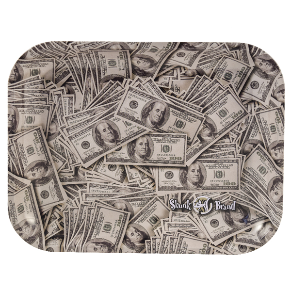 Skunk Cash Collage Rolling Tray