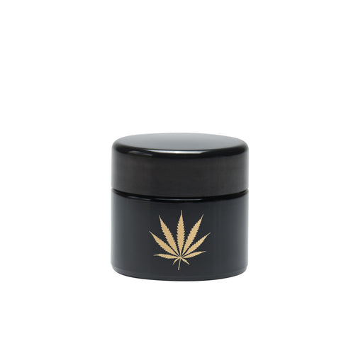 Small Screw Top Glass UV Storage Jar with Gold Leaf 420 Science