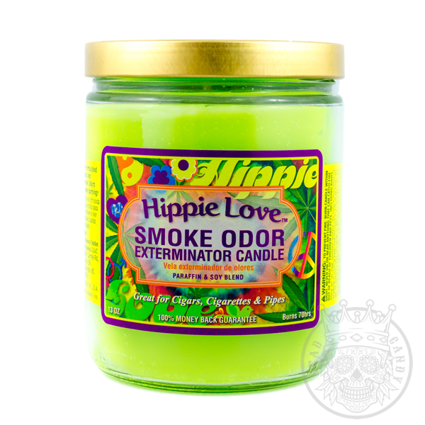 Hippie Love Smoke Odor Eliminator Candle