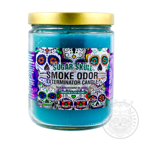 Sugar Skull Candle for Smoke Odors