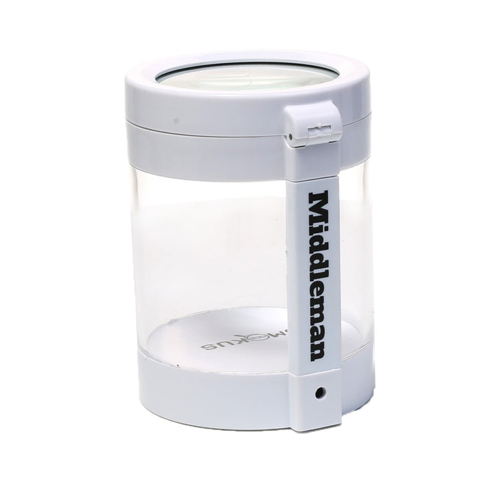 Storage Jar with Magnifying Glass Top and LED Light