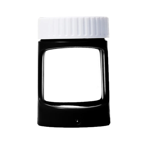 Black and White LED Stash Jar with Magnifying Glass