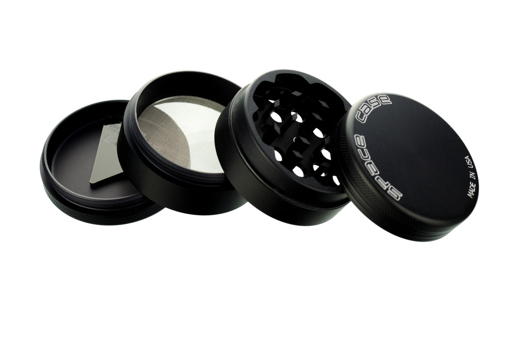 Space Case Grinder & Sifter Matte Black Edition 4 piece