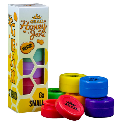 GEAR Silicone Honey Jars - Glow in the Dark - Small (Box of 6)