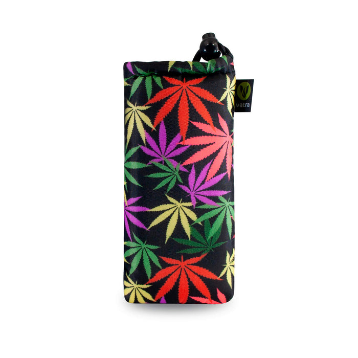 Cannabis Leaf Print Padded Pouch for glass hand pipes Canada