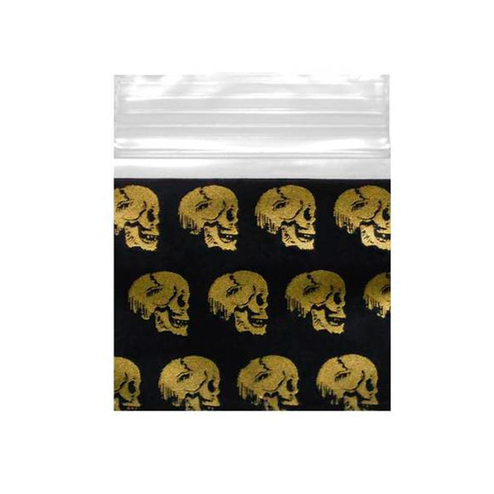 Apple Brand 1010 Baggies Black with Gold Skulls