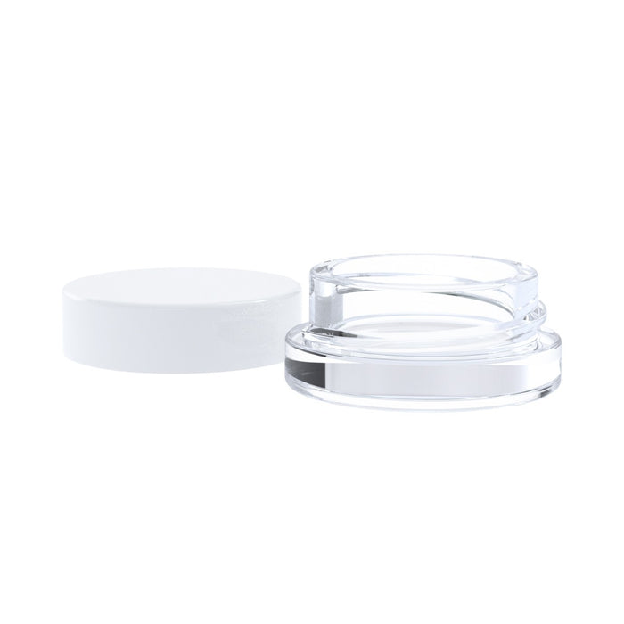 Thick Wall Glass Container for Concentrates 7ml White Lid