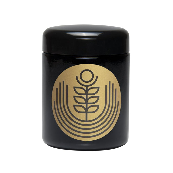 Large 420 Science UV Storage Jar with Gold Rising Flower Design