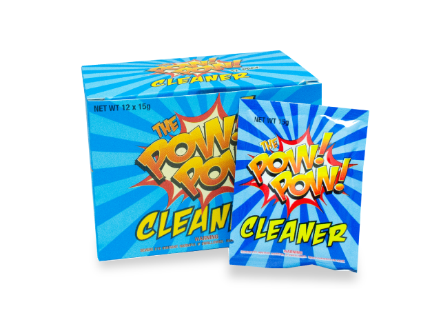 Pow Pow Cleaner Powder Cleaner Safe for Bongs Glass Acrylic